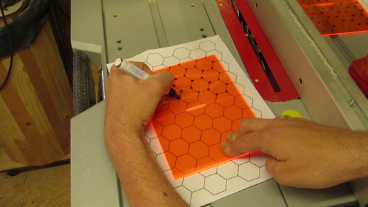 How to Cut a Sheet Into Hexagons