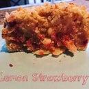 Lemon-Strawberry-Rhubarb Coffee Cake