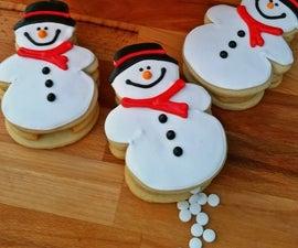 Snowball Pooping Snowmen Sugar Cookies