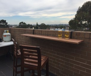 Hanging Balcony Bar Table