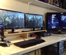 Simple Dual Monitor Stand!
