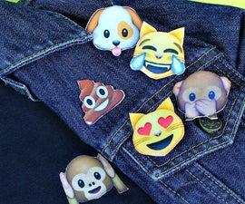 Emoji Polo Shirt and Pins DIY