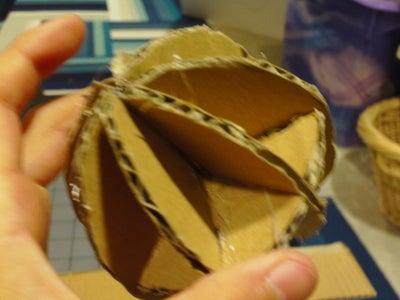 Cardboard Spherical Object