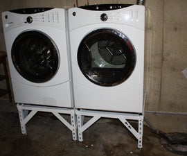 Steel Washer/Dryer Stand With Adjustable Legs