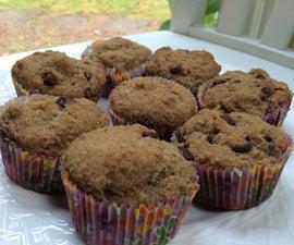 Gluten and Dairy-Free Dark Chocolate Chip Flaxseed Muffins