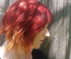 火红色ombre头发