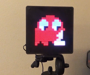 LED Pixel Art Frame With Retro Arcade Art, App Controlled