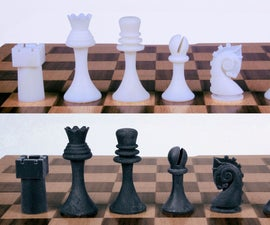 Readymake: Duchamp Chess Pieces (3D Recreations From Photographs)