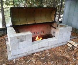 Large Rotisserie Pit BBQ