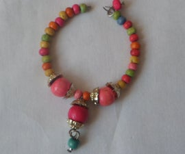 Rainbow Beaded Bracelet and Anklet for Baby