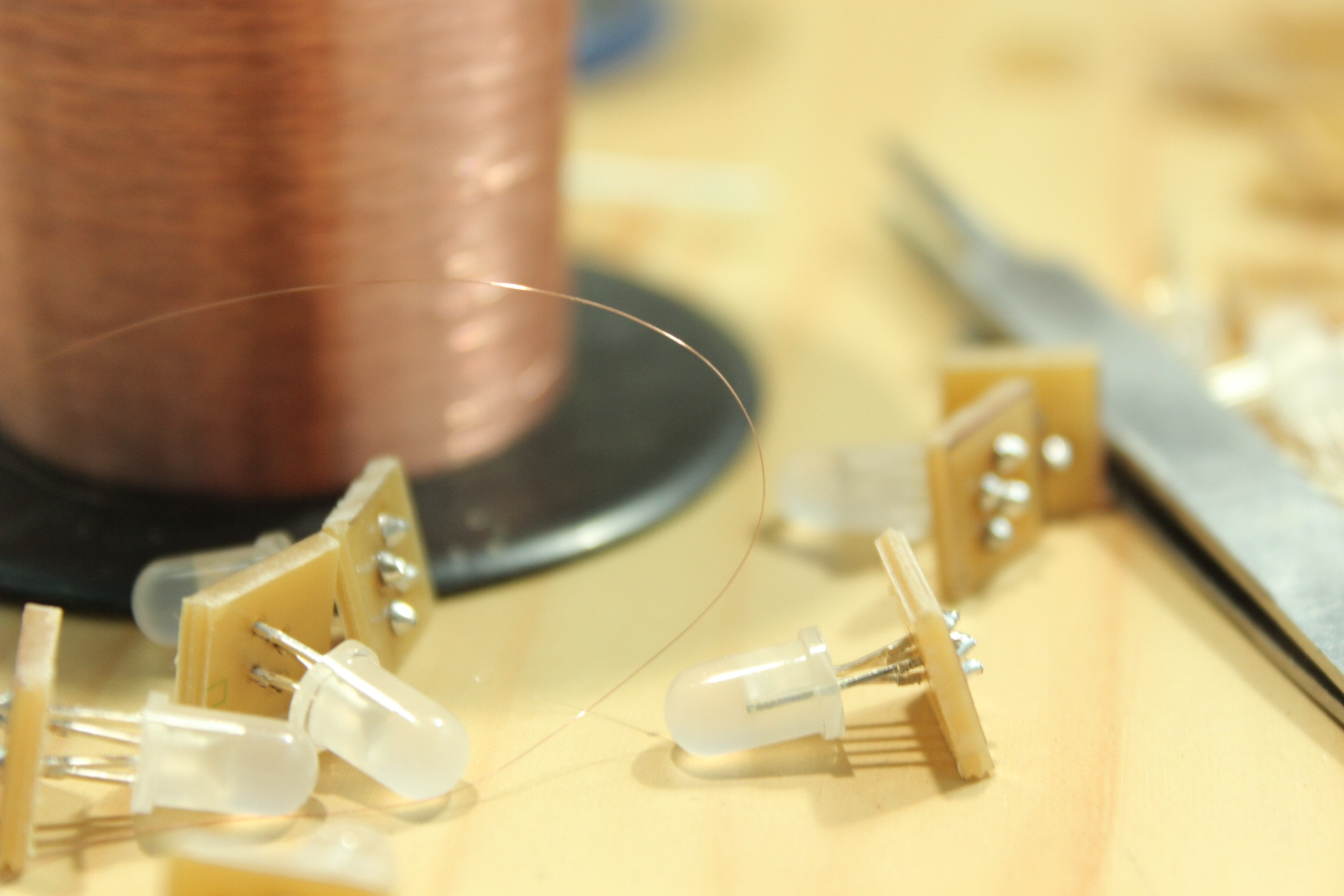 Picture of LEDs Soldering