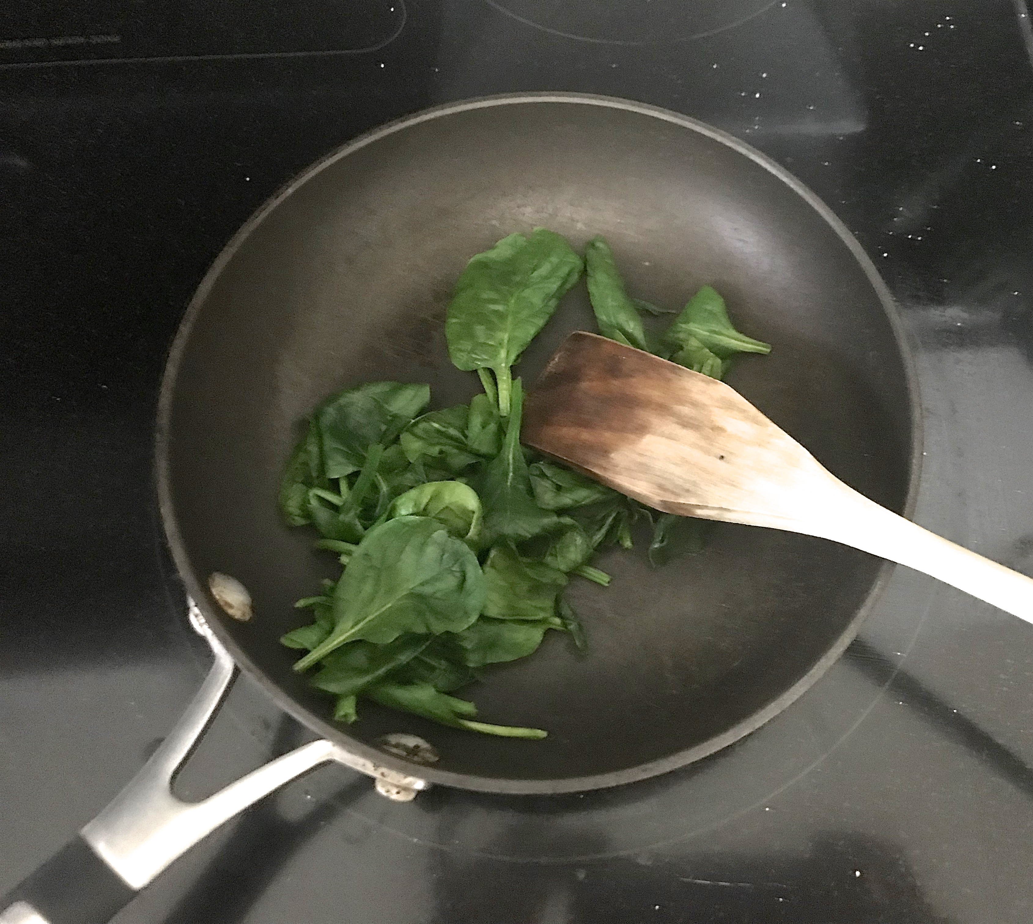 Picture of Sauté and Chop Spinach