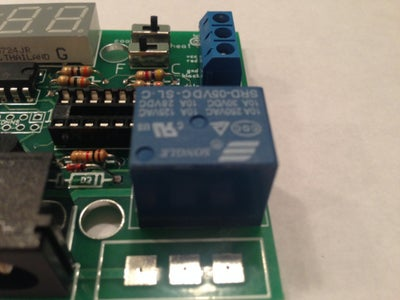 Place and Solder Large Blue Relay (K1)