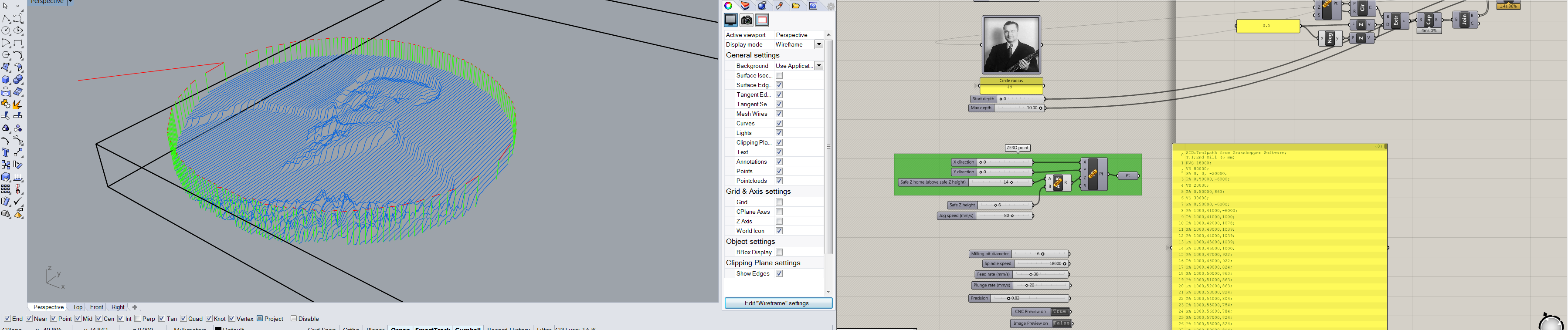 Picture of Example 1: Convert Image to 3D-milling Using a V-bit