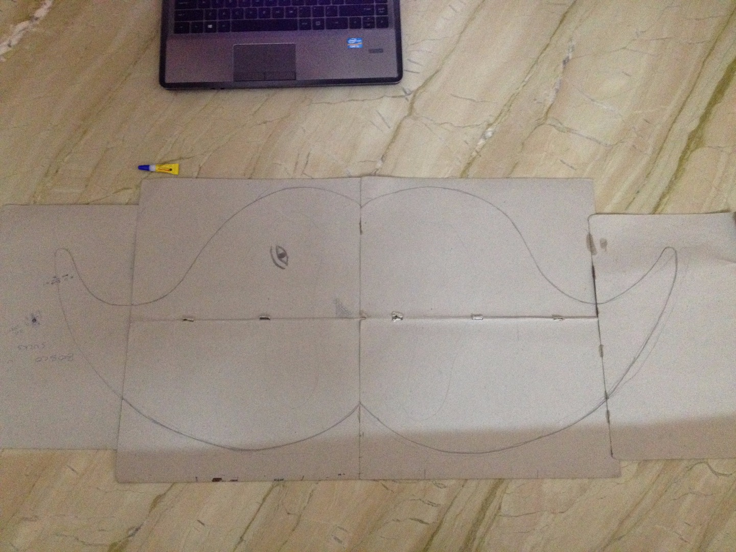 Picture of Making the Template -