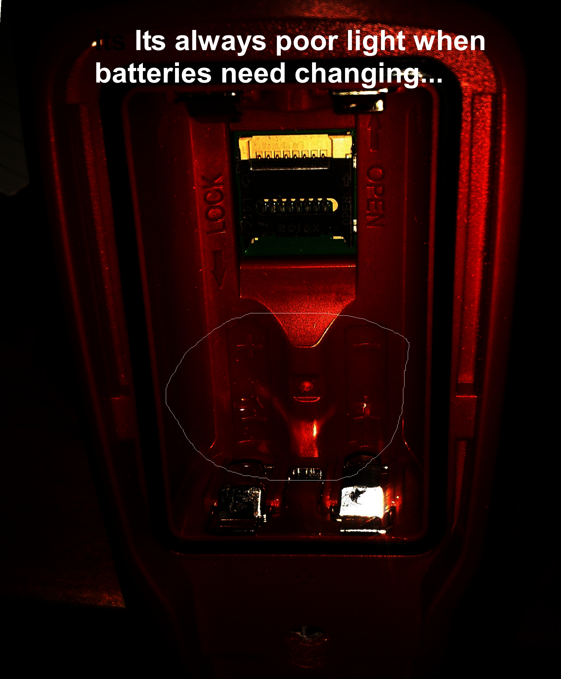 Picture of Changing Device Batteries in In the Dark..
