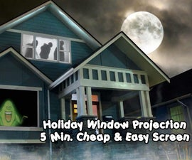 5 Minute Cheap and Easy Rear Projection Screen