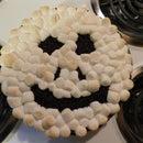 Skull Faced Pumpkin Cheese-Cake Pie