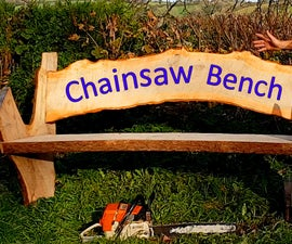 Fairy-tale Style Bench With Chainsaw