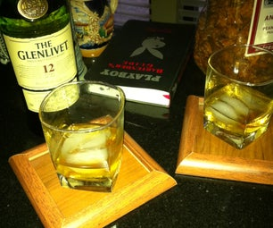 Drink Coasters From Leftover Flooring Materials