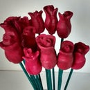 Wooden Valentines / Mothers Day Roses Made From A Branch