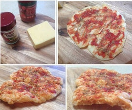 crispy cheese base microwave pizza
