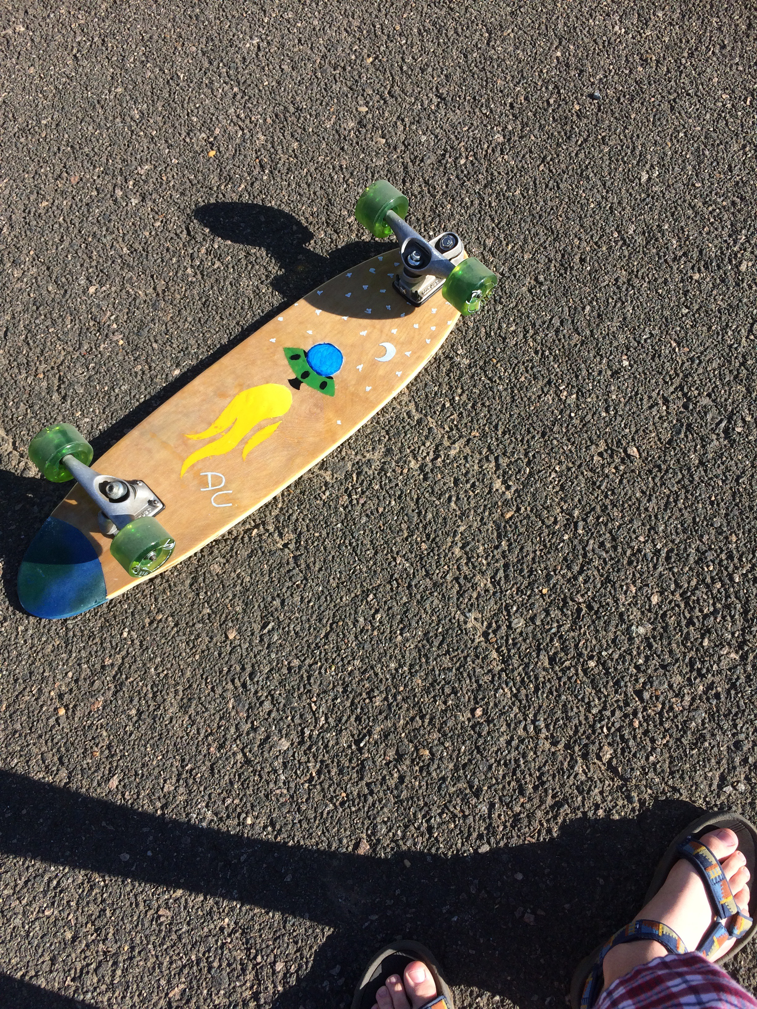 Picture of Surf/Skate Board With Space Graphics