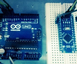 Program Arduino Nano Via Uno With ICSP