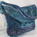 Knitter's Serendipity Felted Messenger Bag