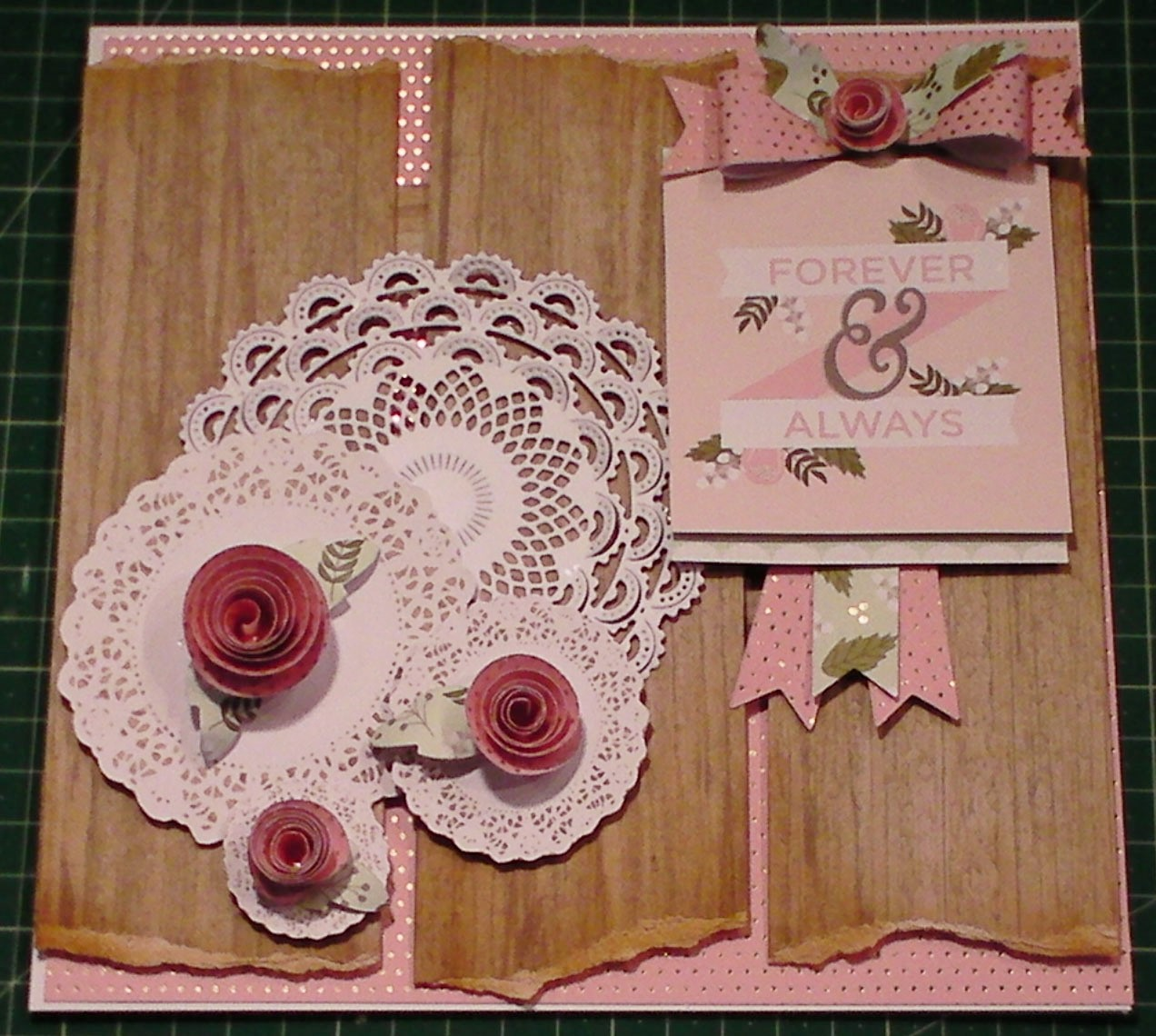 Picture of How to Make a Happy Day Vintage Doily Card