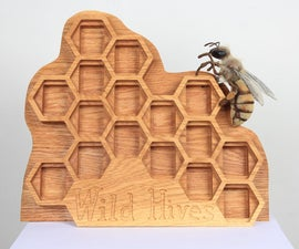 CNC Machining Project: Wild Hives Honey Display