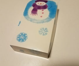 Gift Box From a Greeting Card.