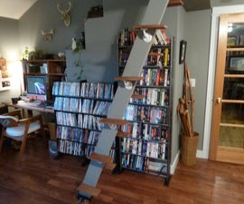 Space Saving Loft Ladder/ Stairs (100% Salvage Materials)