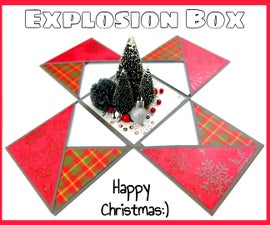 How to Make an Explosion Box for Christmas | DIY Paper Crafts