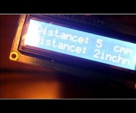How to Ultrasonic on LCD - Arduino - Ahmed Rahmou