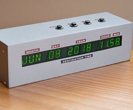A Back to the Future Clock