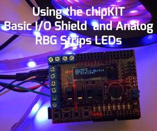 Using the ChipKIT Basic I/O Shield With Analog RGB Strip LEDs