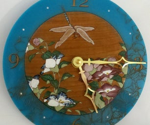 Lasered Dragonfly and Flower Clock (with Epic Detail)