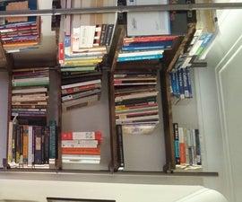 Self-Supporting Corner Bookshelf