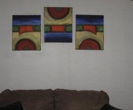 Make this painting: Abstract #1 Rising, Full, Setting Suns