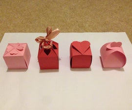 No Glue Valentines Boxes