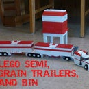 LEGO Semi, Grain Trailers, and Bin