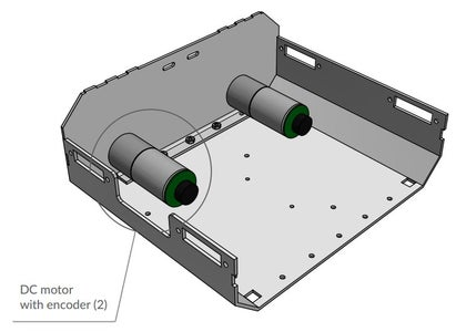 Then Attach the Motors With Encoders and Screw Them Using M3x6 Screws