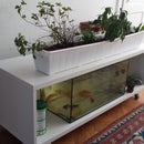 Ikea Shelf turned into an Indoor Aquaponics System