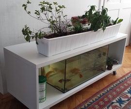 Ikea Shelf turned into an Indoor Aquaponics System