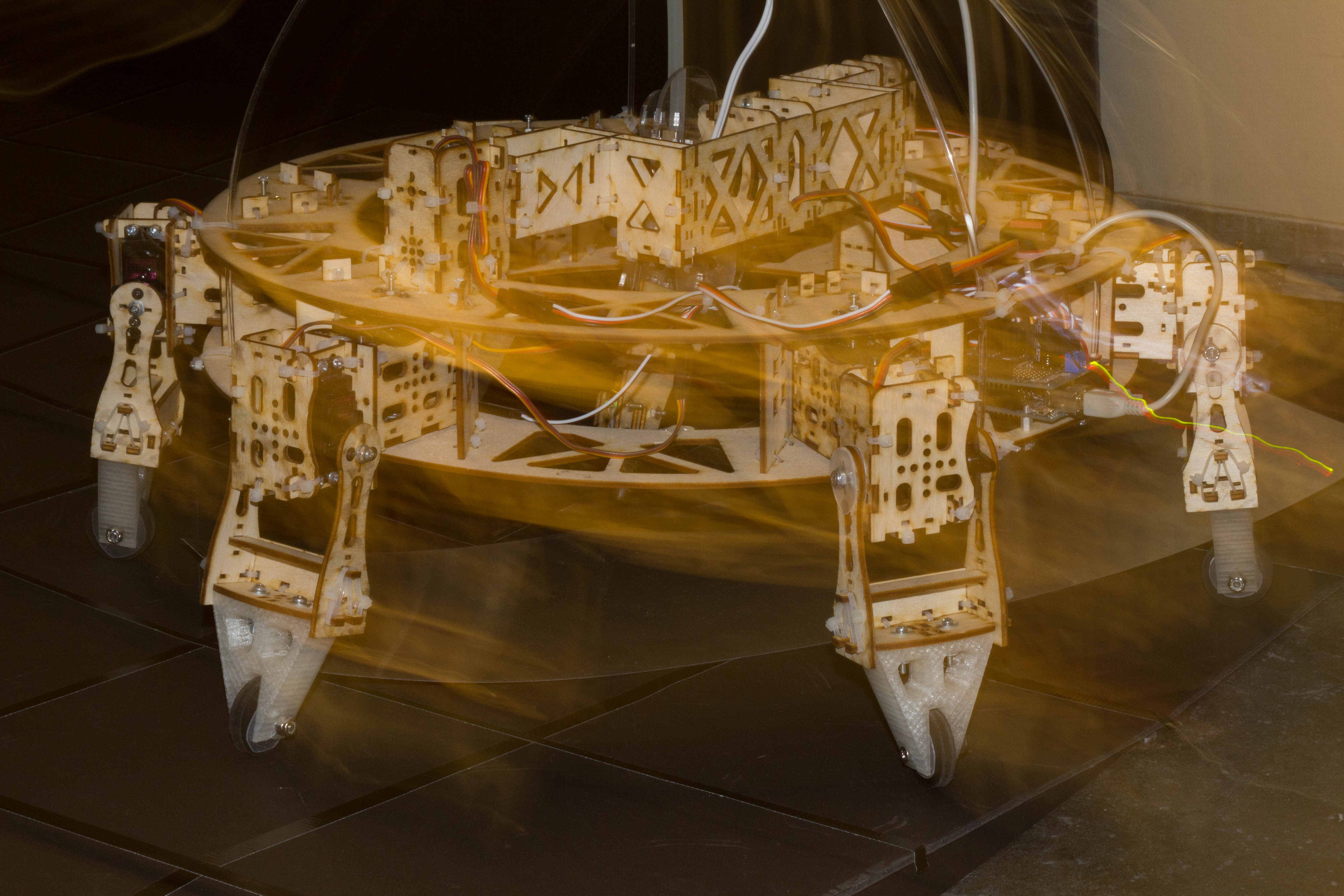 Picture of Geoweaver: a Walking 3D Printer Hexapod