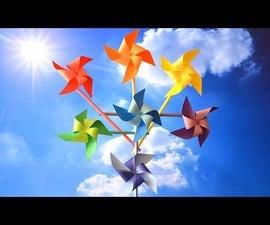 DIY Fun Toy - Rainbow Pinwheels