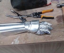 Making a Medieval Steel Gauntlet - sheet metal (WIP)