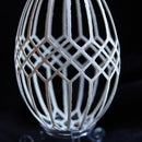 Real carved goose eggshell