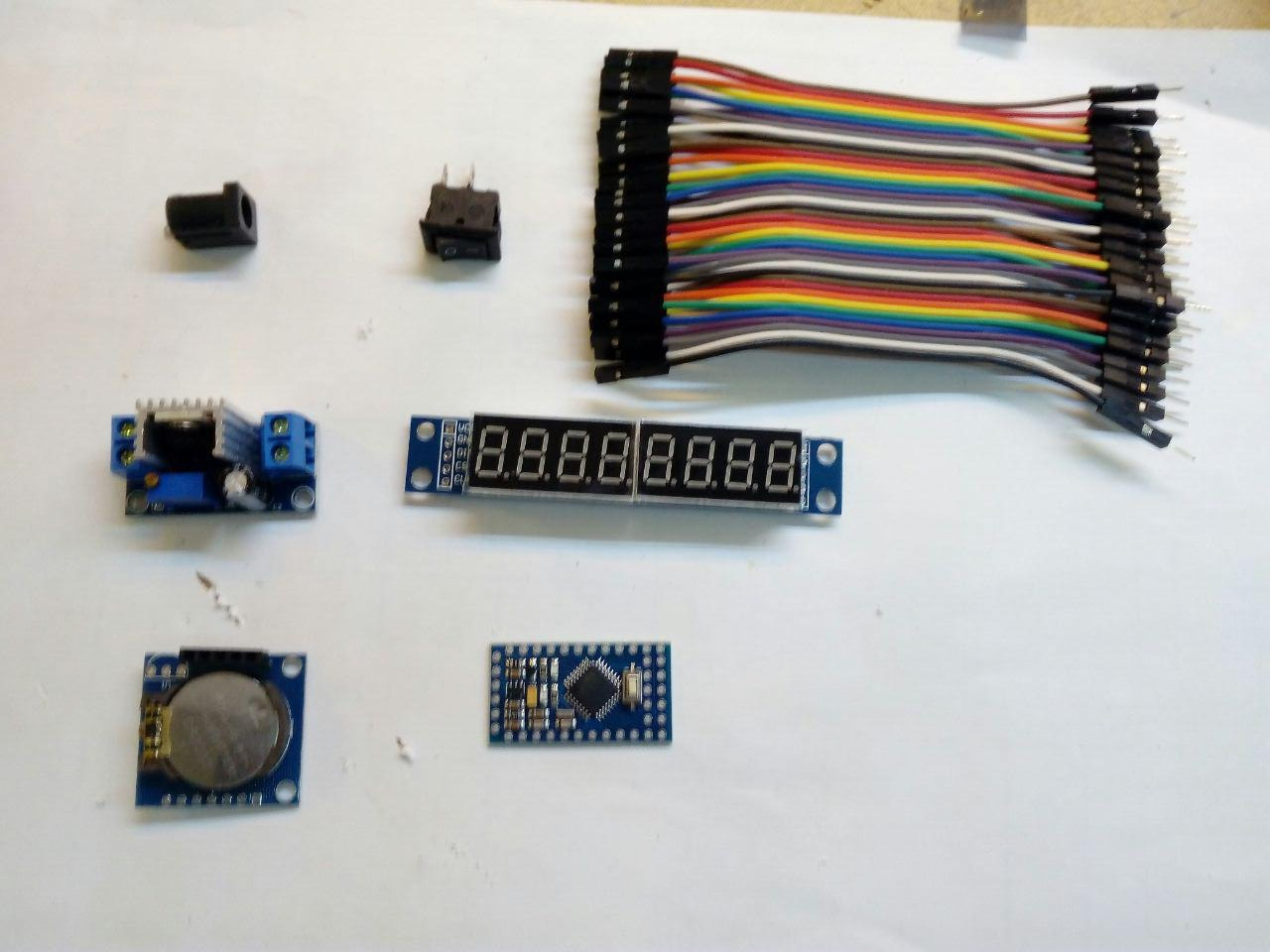 Picture of Components and Materials Needed in This Project